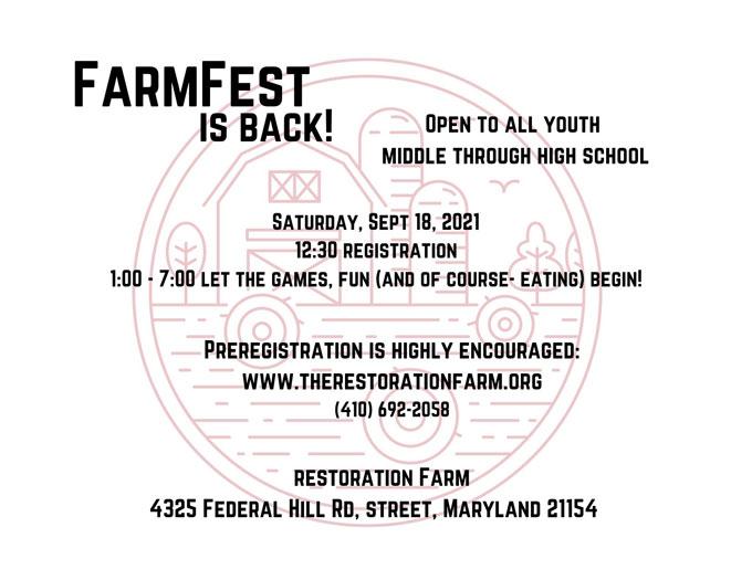 Farm Fest promotional flyer September 2021